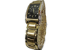 Ladies yellow metal and diamond Bulova wristwatch
